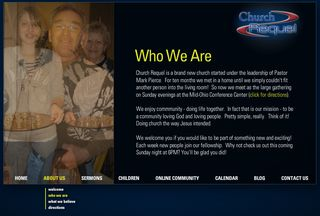 "Click image to go to ""Who We Are"" page of church website."