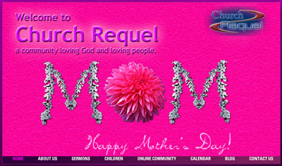 "Click on this picture to go see the new ""PINK"" Church Requel website."