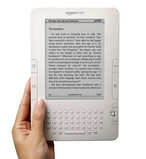 Click on image to go to Amazon page to learn more about the Kindle