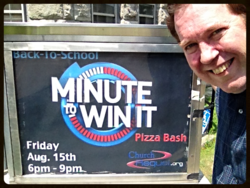 Minute To Win It Poster at Church Requel