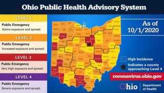 Coronavirus Ohio Map