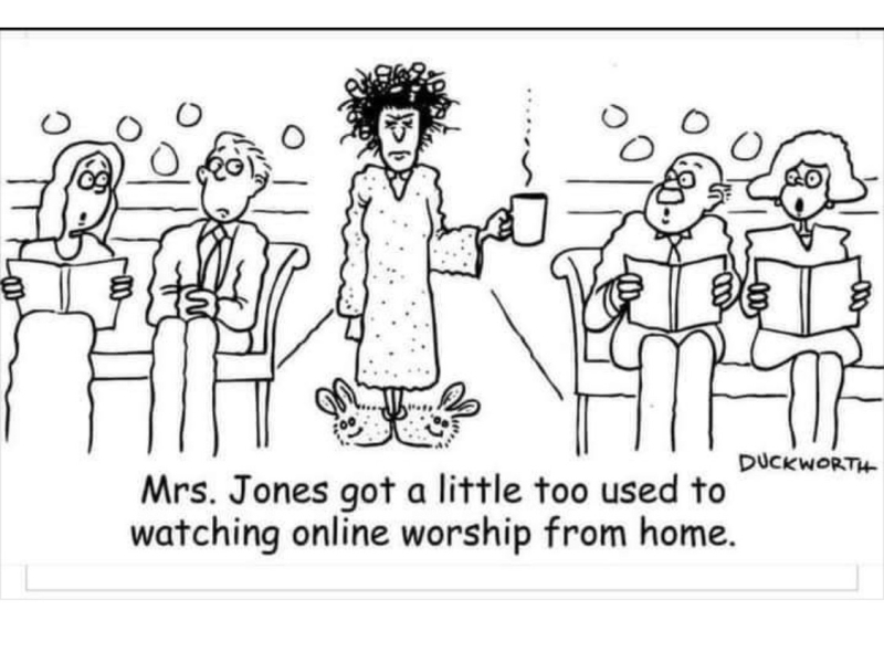 Online Worship Funny